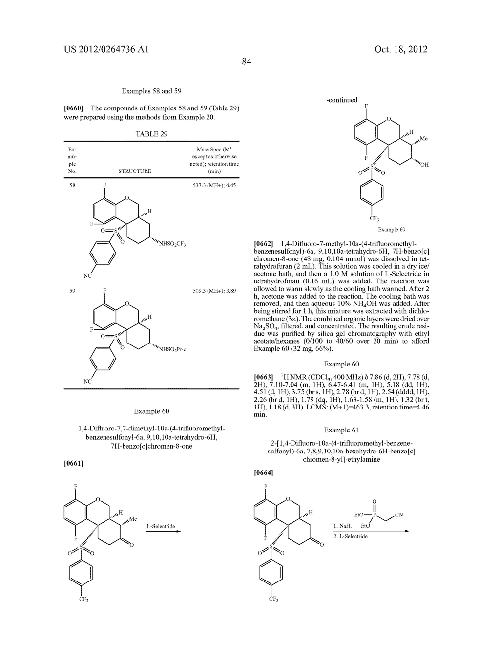 BENZENESULFONYL-CHROMANE, THIOCHROMANE, TETRAHYDRONAPHTHALENE AND RELATED     GAMMA SECRETASE INHIBITORS - diagram, schematic, and image 85