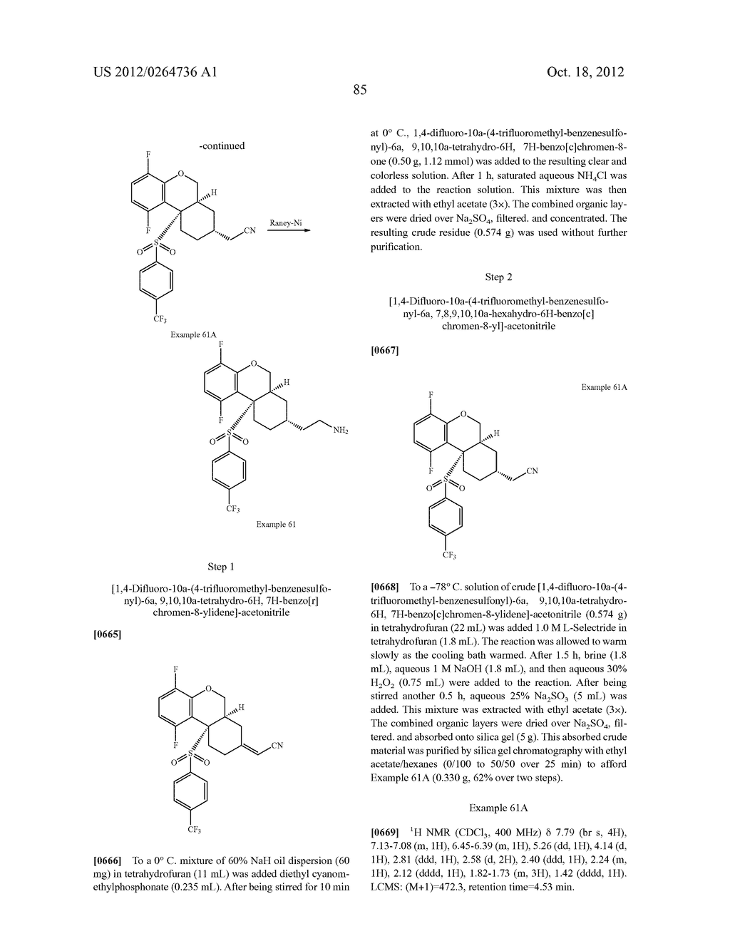 BENZENESULFONYL-CHROMANE, THIOCHROMANE, TETRAHYDRONAPHTHALENE AND RELATED     GAMMA SECRETASE INHIBITORS - diagram, schematic, and image 86