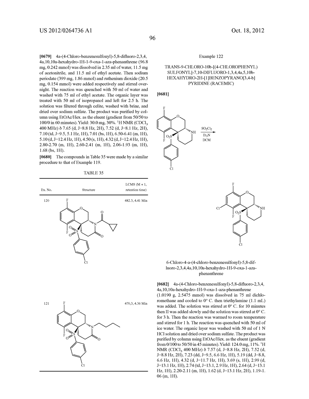 BENZENESULFONYL-CHROMANE, THIOCHROMANE, TETRAHYDRONAPHTHALENE AND RELATED     GAMMA SECRETASE INHIBITORS - diagram, schematic, and image 97