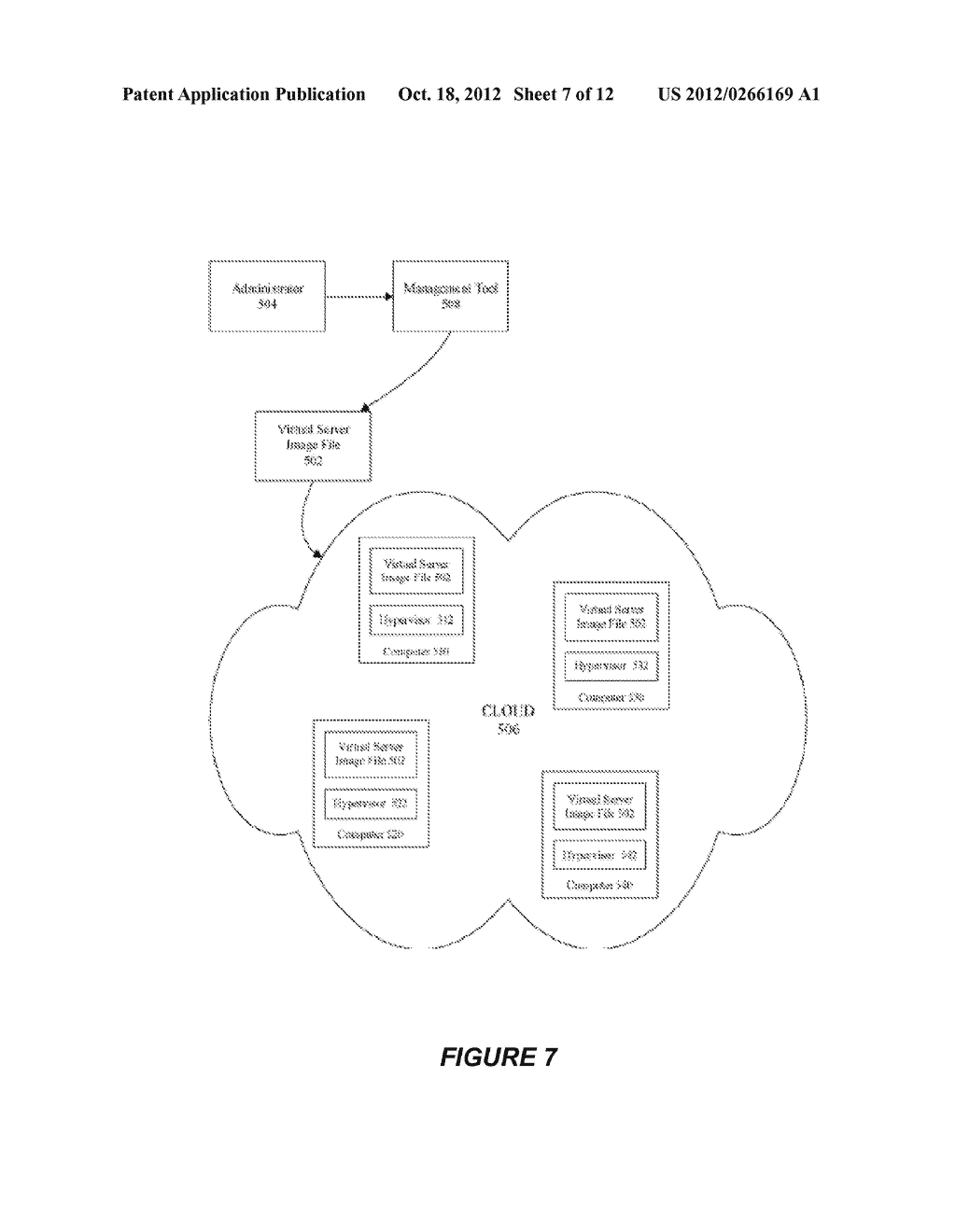 SYSTEM AND METHOD FOR CREATING OR RECONFIGURING A VIRTUAL SERVER IMAGE FOR     CLOUD DEPLOYMENT - diagram, schematic, and image 08