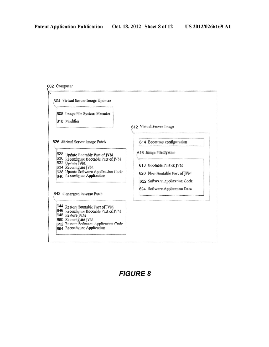 SYSTEM AND METHOD FOR CREATING OR RECONFIGURING A VIRTUAL SERVER IMAGE FOR     CLOUD DEPLOYMENT - diagram, schematic, and image 09