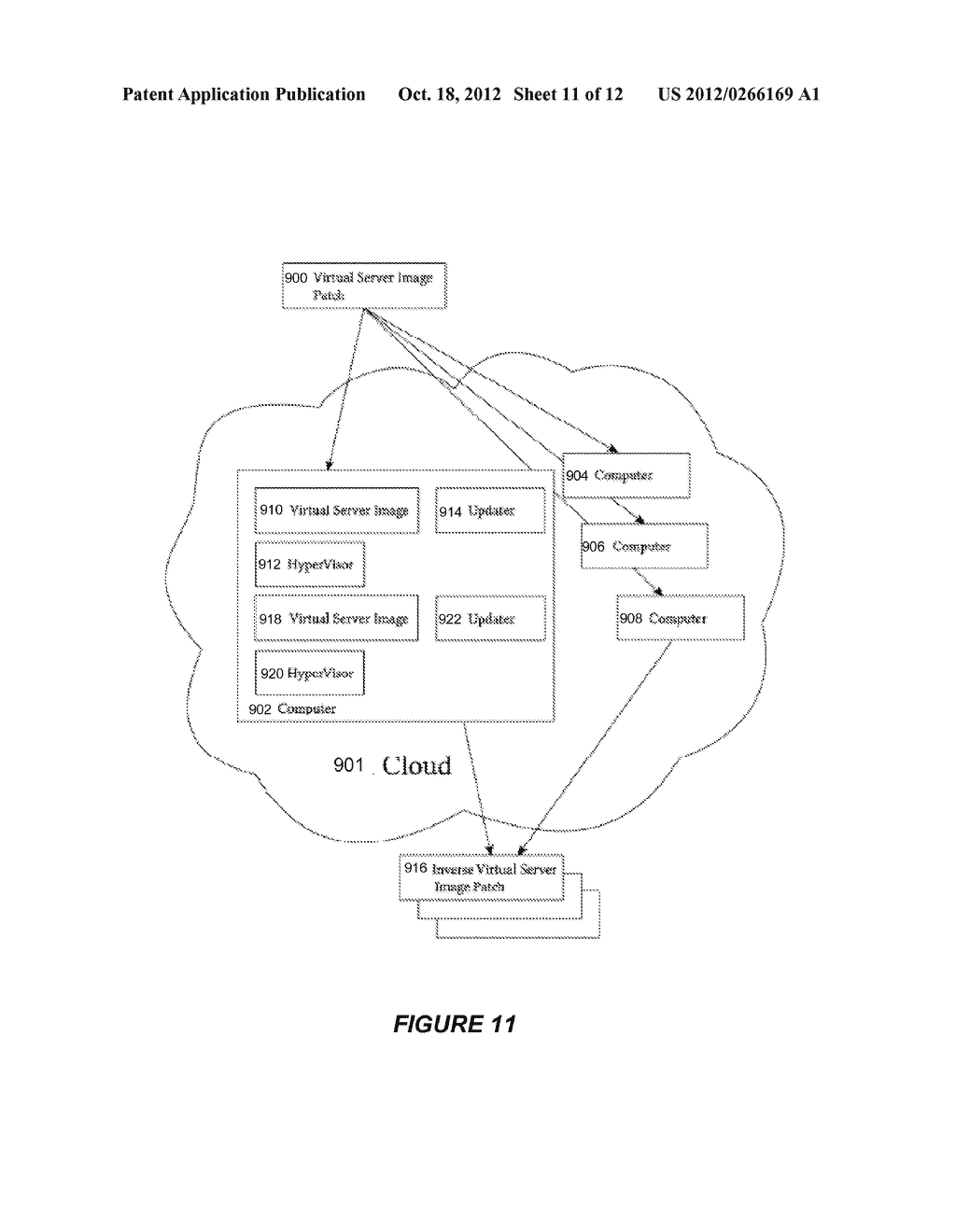SYSTEM AND METHOD FOR CREATING OR RECONFIGURING A VIRTUAL SERVER IMAGE FOR     CLOUD DEPLOYMENT - diagram, schematic, and image 12