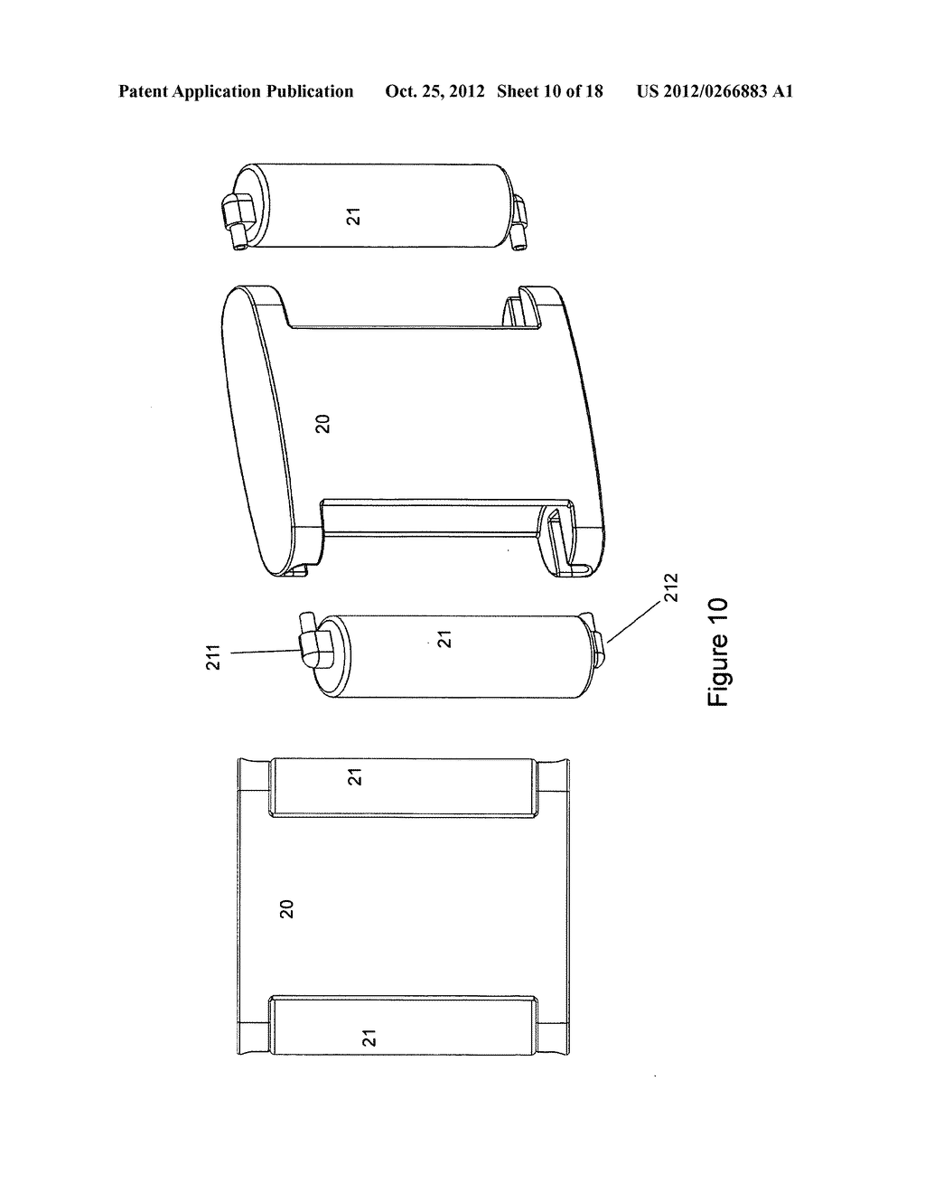 Gas concentrator with removable cartridge adsorbent beds - diagram, schematic, and image 11