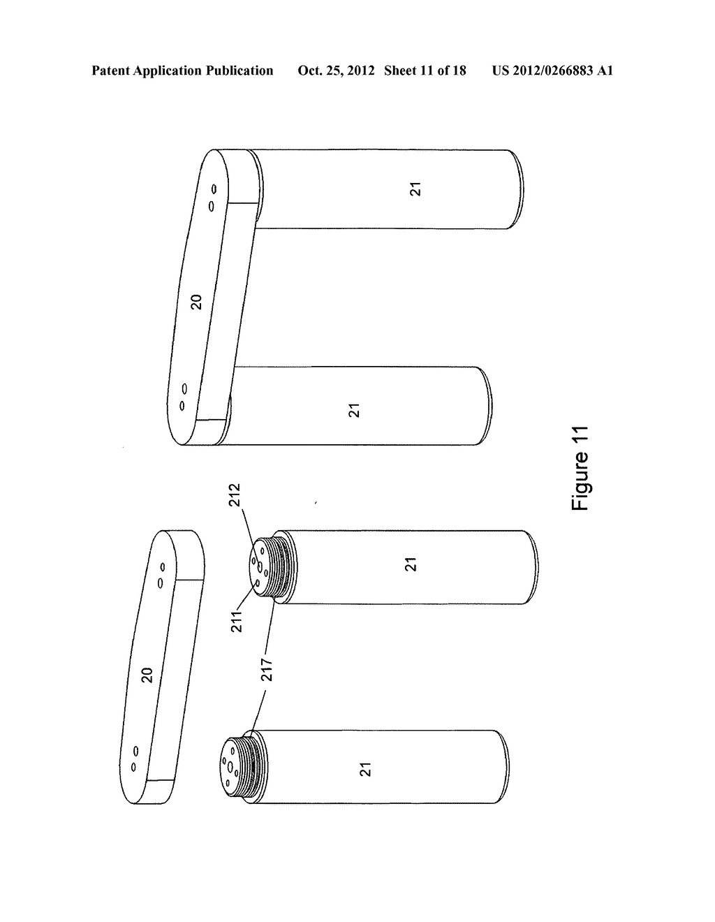 Gas concentrator with removable cartridge adsorbent beds - diagram, schematic, and image 12