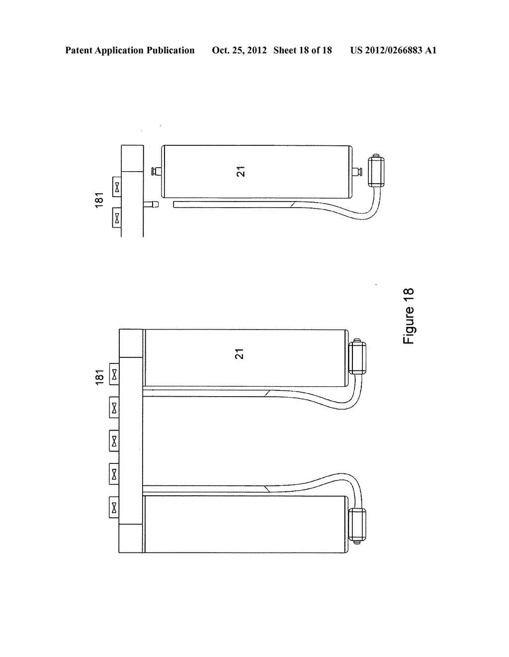 Gas concentrator with removable cartridge adsorbent beds - diagram, schematic, and image 19