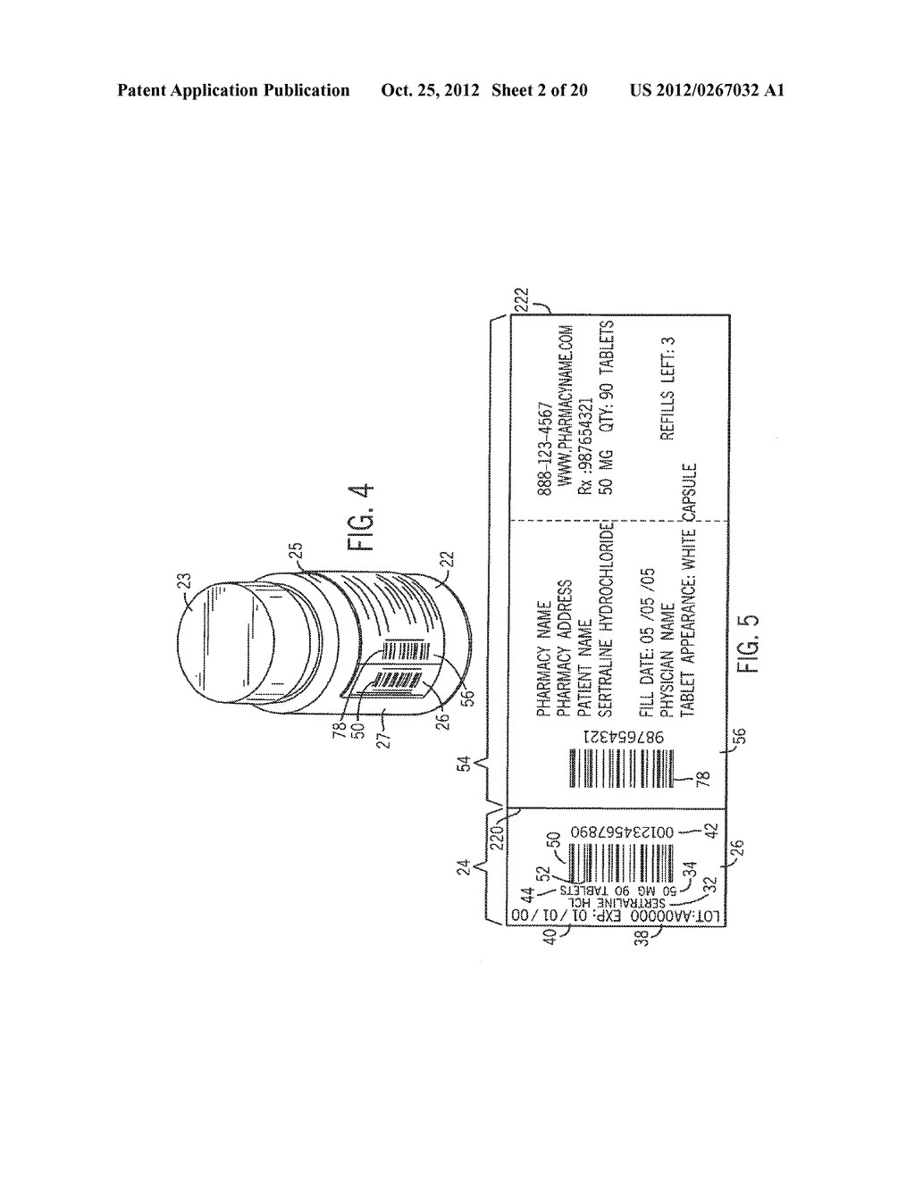APPARATUS AND METHODS FOR DISPENSING PRE-FILLED CONTAINERS WITH     PRECISELY-APPLIED PATIENT-SPECIFIC INFORMATION - diagram, schematic, and image 03