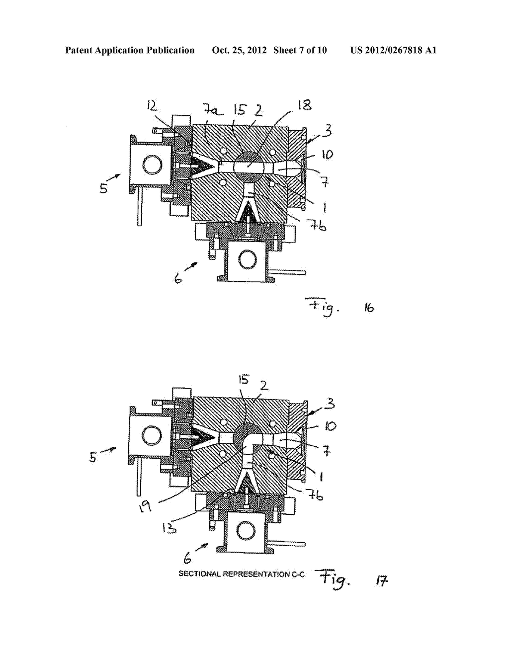 METHOD AND DEVICE FOR GRANULATING PLASTICS AND/OR POLYMERS - diagram, schematic, and image 08