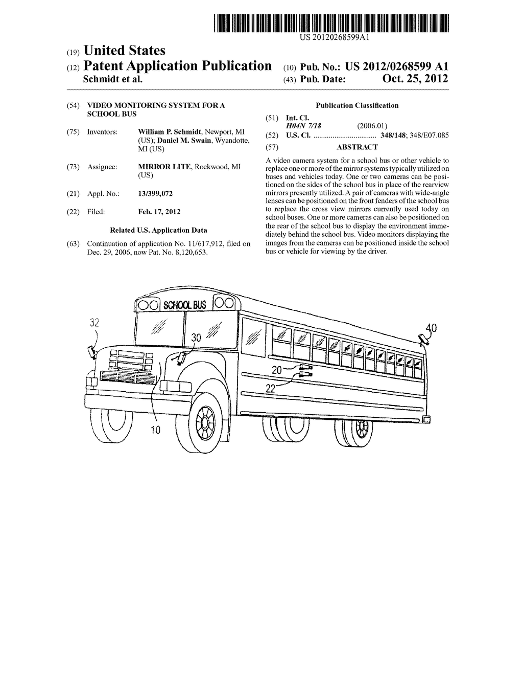 Video Monitoring System For A School Bus - diagram, schematic, and image 01