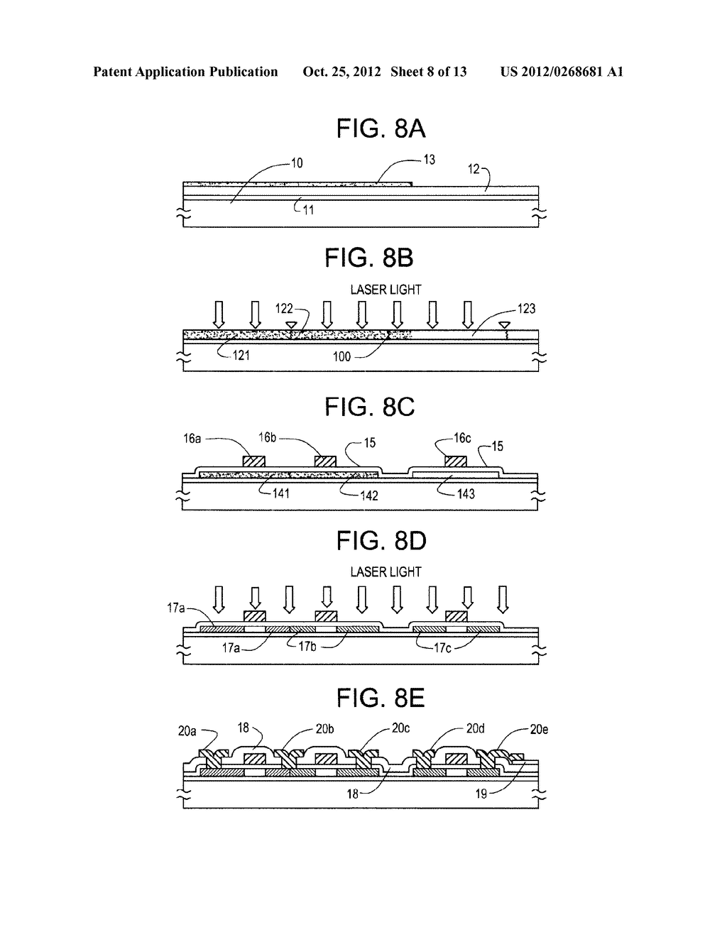 SEMICONDUCTOR CIRCUIT FOR ELECTRO-OPTICAL DEVICE AND METHOD OF     MANUFACTURING THE SAME - diagram, schematic, and image 09