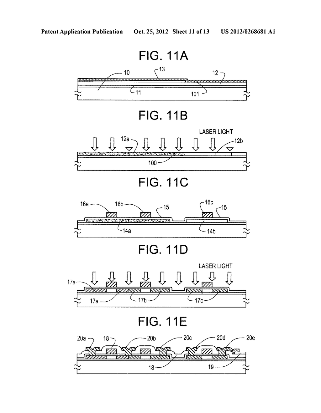 SEMICONDUCTOR CIRCUIT FOR ELECTRO-OPTICAL DEVICE AND METHOD OF     MANUFACTURING THE SAME - diagram, schematic, and image 12