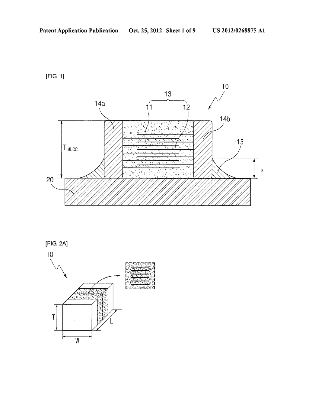 MOUNTING STRUCTURE OF CIRCUIT BOARD HAVING THEREON MULTI-LAYERED CERAMIC     CAPACITOR, METHOD THEREOF, LAND PATTERN OF CIRCUIT BOARD FOR THE SAME,     PACKING UNIT FOR MULTI-LAYERED CERAMIC CAPACITOR TAPED HORIZONTALLY AND     ALIGNING METHOD THEREOF - diagram, schematic, and image 02