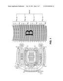 Large Scale Participatory Entertainment Systems For Generating Music Or     Other Ordered, Discernible Sounds And/Or Displays Sequentially Responsive     To Movement Detected At Venue Seating diagram and image