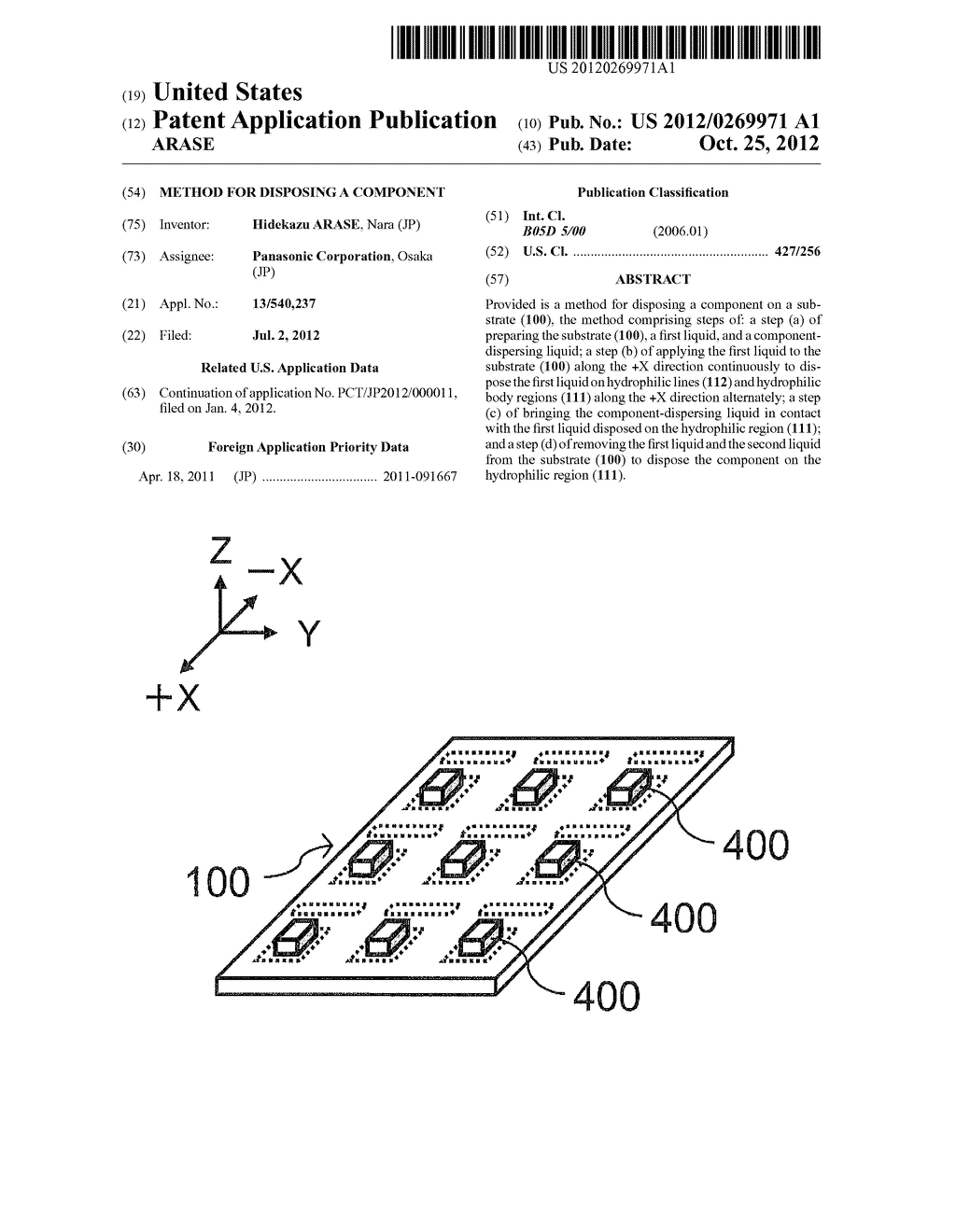 METHOD FOR DISPOSING A COMPONENT - diagram, schematic, and image 01