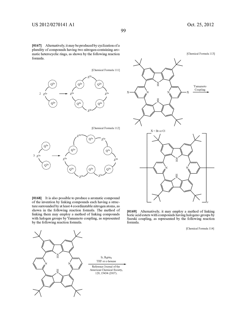 NITROGEN-CONTAINING AROMATIC COMPOUNDS AND METAL COMPLEXES - diagram, schematic, and image 100
