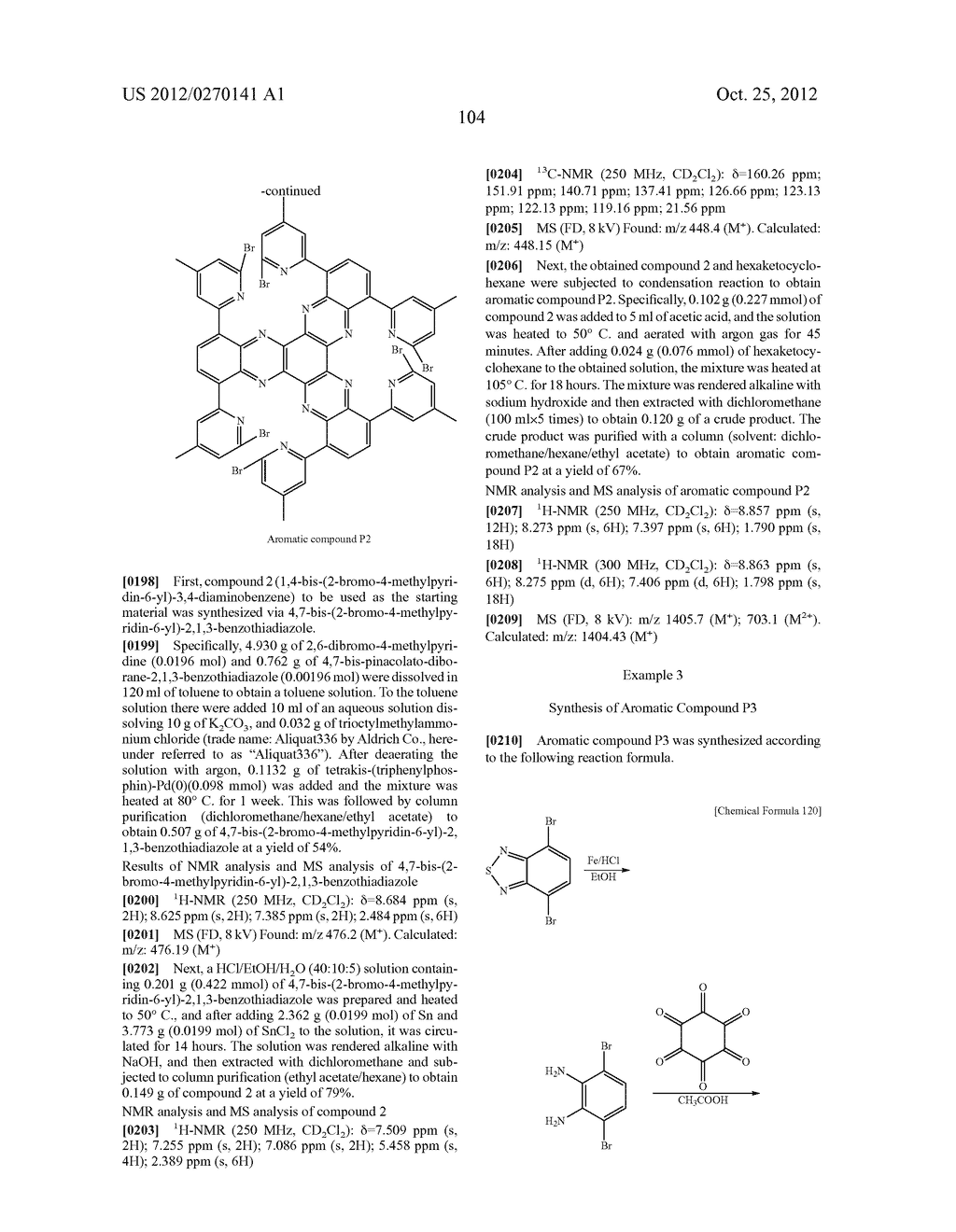 NITROGEN-CONTAINING AROMATIC COMPOUNDS AND METAL COMPLEXES - diagram, schematic, and image 105