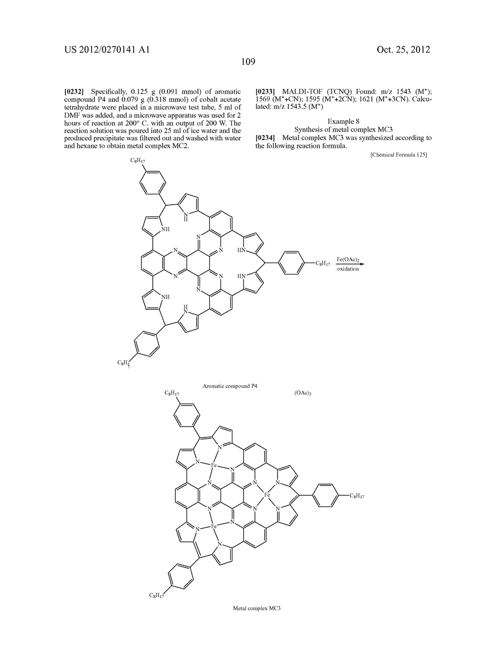 NITROGEN-CONTAINING AROMATIC COMPOUNDS AND METAL COMPLEXES - diagram, schematic, and image 110