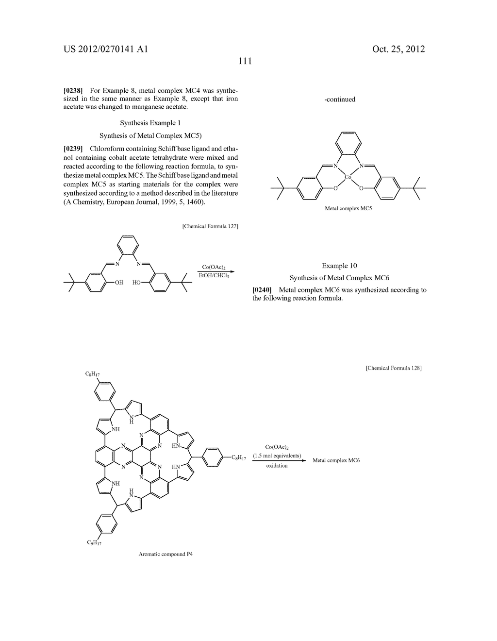 NITROGEN-CONTAINING AROMATIC COMPOUNDS AND METAL COMPLEXES - diagram, schematic, and image 112