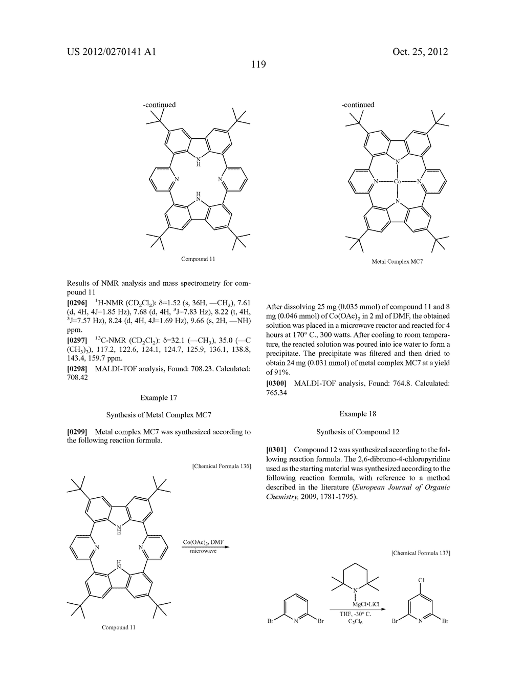 NITROGEN-CONTAINING AROMATIC COMPOUNDS AND METAL COMPLEXES - diagram, schematic, and image 120