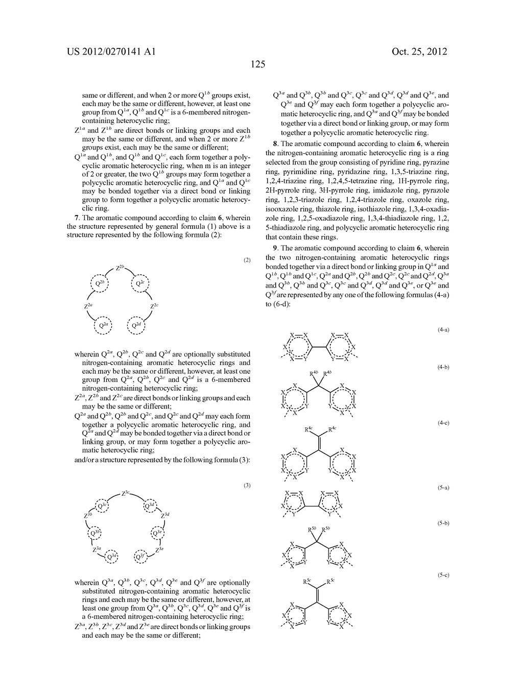 NITROGEN-CONTAINING AROMATIC COMPOUNDS AND METAL COMPLEXES - diagram, schematic, and image 126