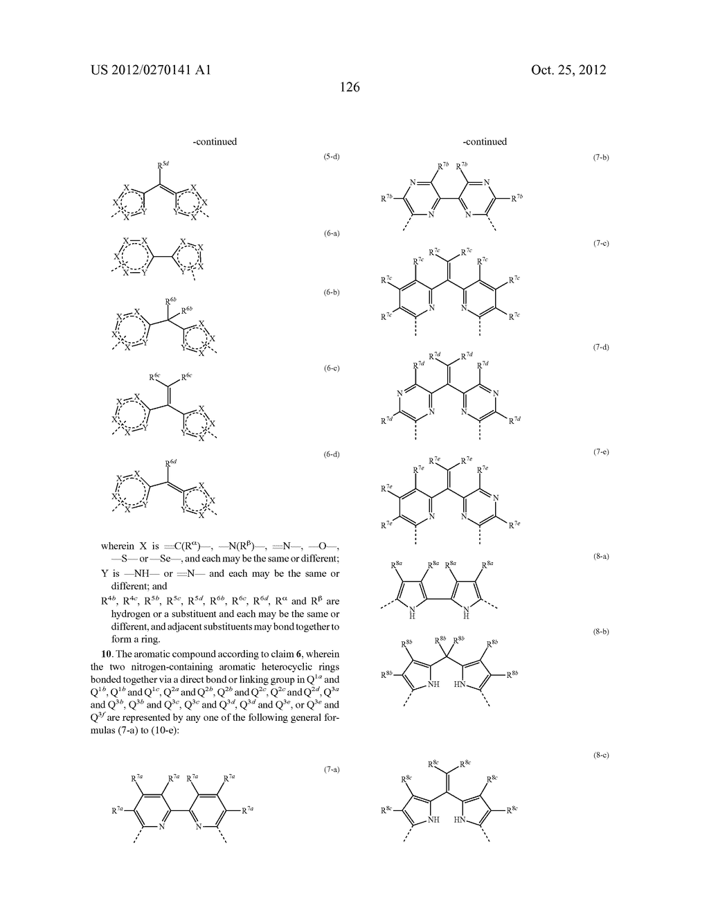 NITROGEN-CONTAINING AROMATIC COMPOUNDS AND METAL COMPLEXES - diagram, schematic, and image 127