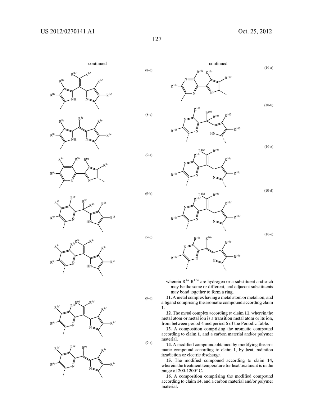NITROGEN-CONTAINING AROMATIC COMPOUNDS AND METAL COMPLEXES - diagram, schematic, and image 128