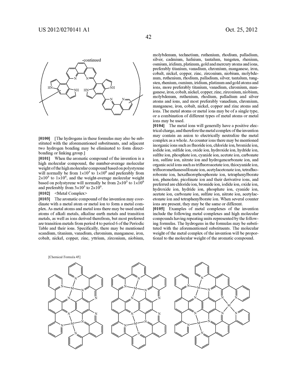 NITROGEN-CONTAINING AROMATIC COMPOUNDS AND METAL COMPLEXES - diagram, schematic, and image 43