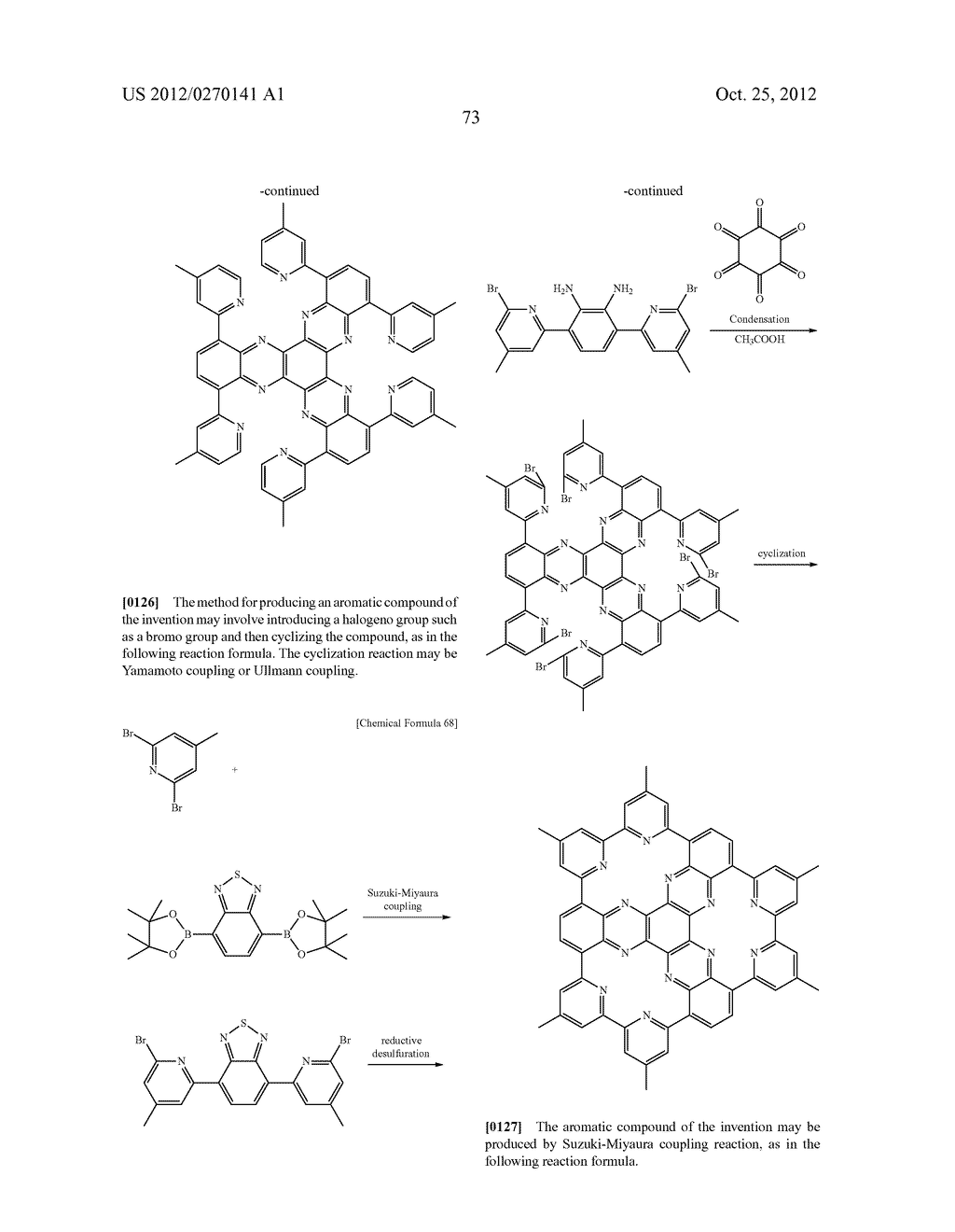 NITROGEN-CONTAINING AROMATIC COMPOUNDS AND METAL COMPLEXES - diagram, schematic, and image 74