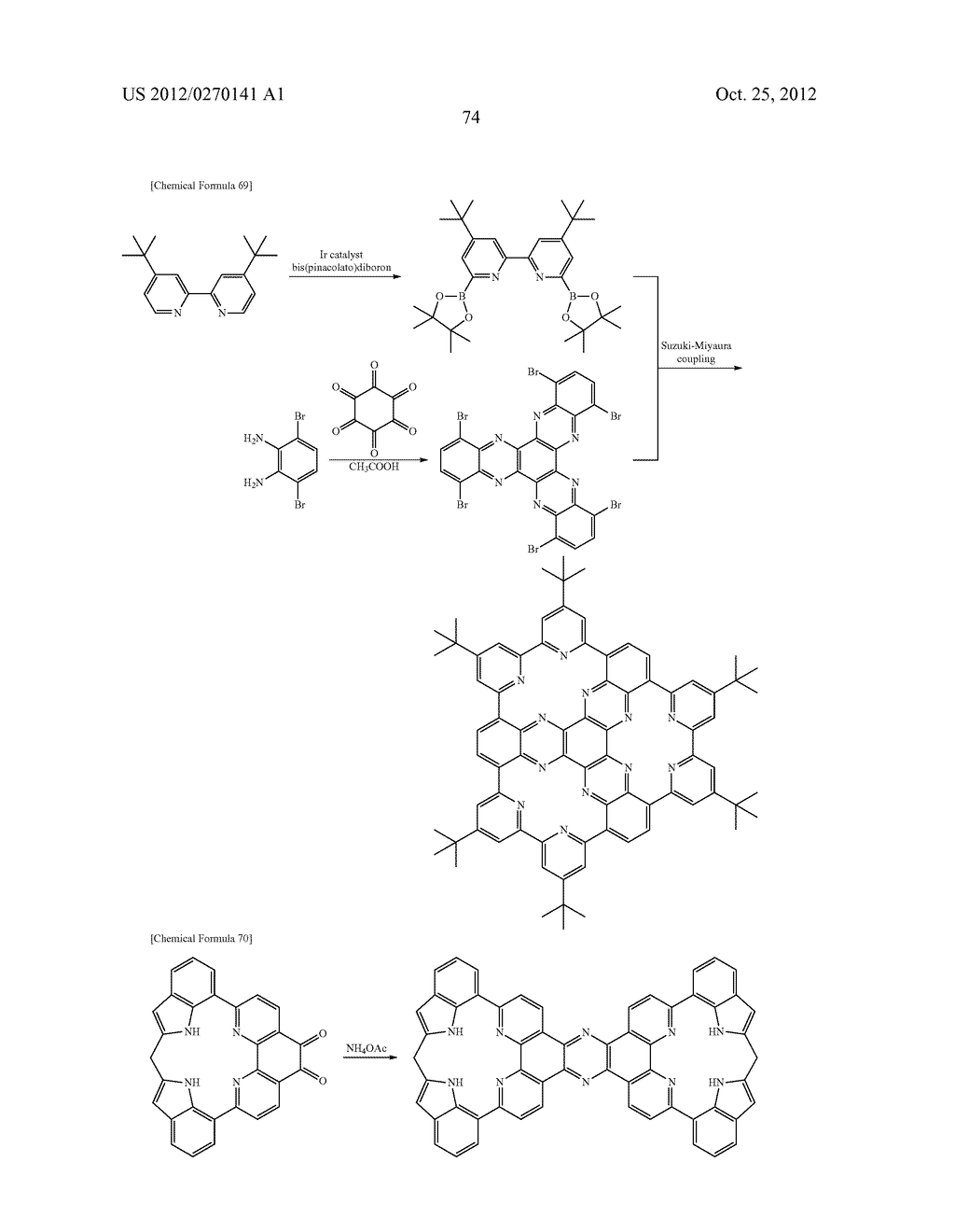 NITROGEN-CONTAINING AROMATIC COMPOUNDS AND METAL COMPLEXES - diagram, schematic, and image 75