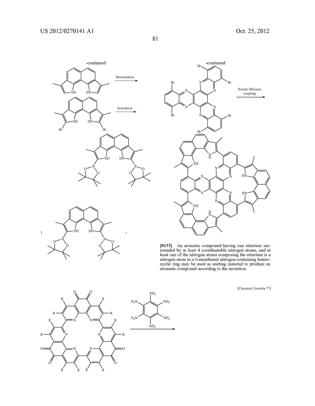 NITROGEN-CONTAINING AROMATIC COMPOUNDS AND METAL COMPLEXES - diagram, schematic, and image 82