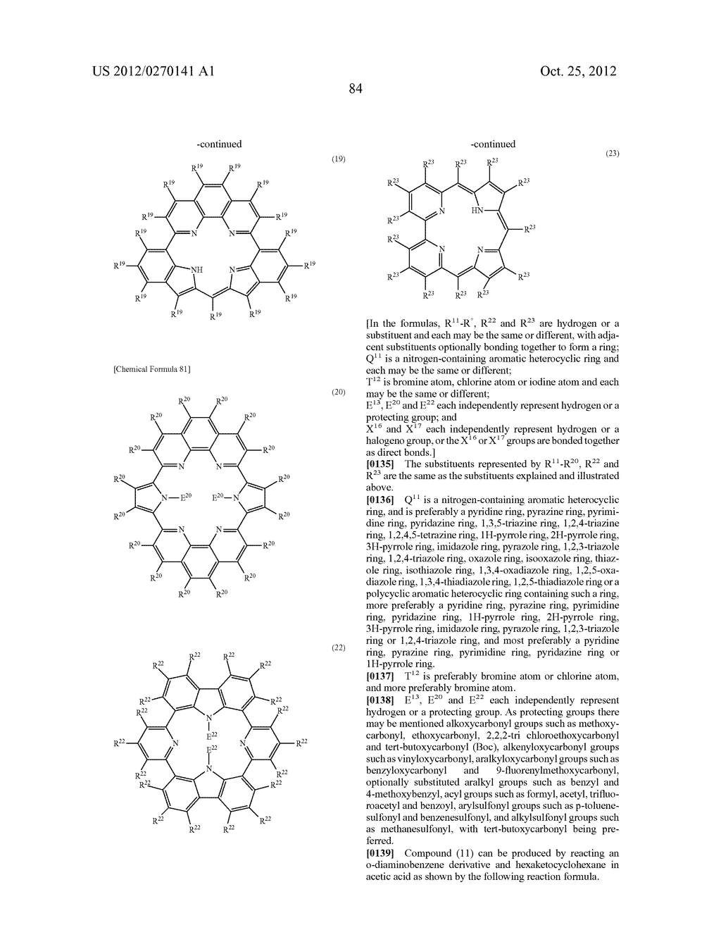 NITROGEN-CONTAINING AROMATIC COMPOUNDS AND METAL COMPLEXES - diagram, schematic, and image 85
