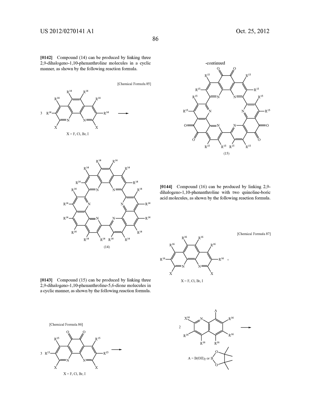 NITROGEN-CONTAINING AROMATIC COMPOUNDS AND METAL COMPLEXES - diagram, schematic, and image 87