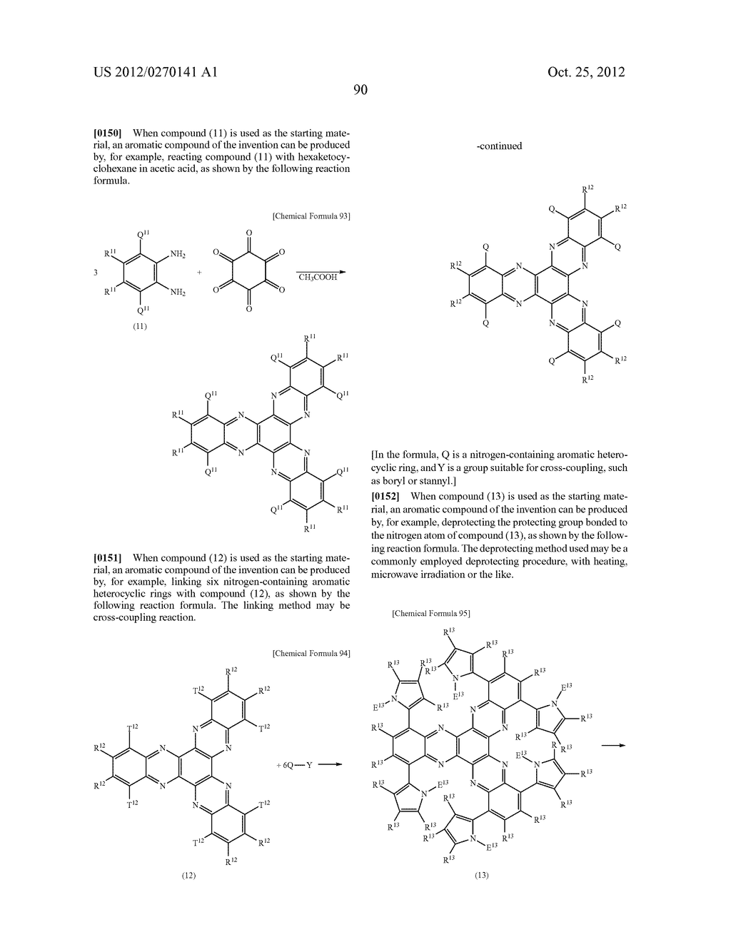 NITROGEN-CONTAINING AROMATIC COMPOUNDS AND METAL COMPLEXES - diagram, schematic, and image 91