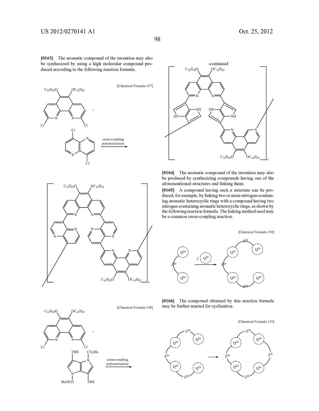 NITROGEN-CONTAINING AROMATIC COMPOUNDS AND METAL COMPLEXES - diagram, schematic, and image 99