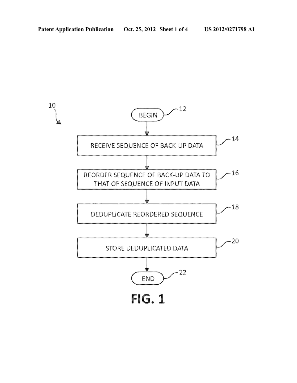METHOD AND SYSTEM FOR DEDUPLICATING DATA - diagram, schematic, and image 02