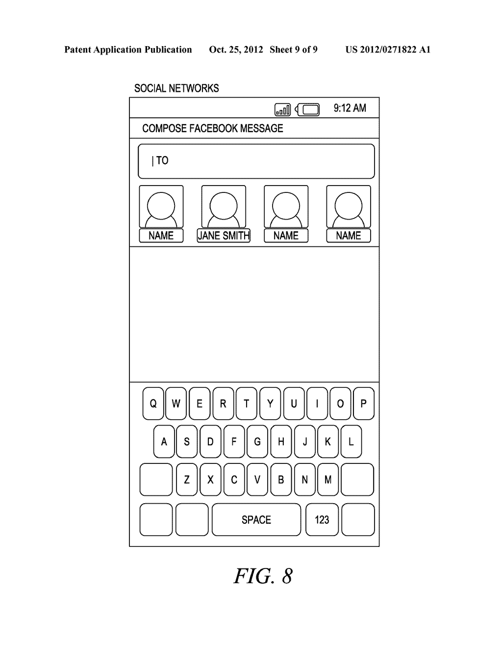 SYSTEM FOR ESTABLISHING PREFERRED CONTACTS FOR A CENTRAL USER OF A MOBILE     COMMUNICATION DEVICE - diagram, schematic, and image 10