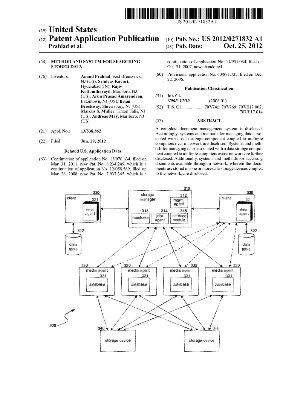 METHOD AND SYSTEM FOR SEARCHING STORED DATA - diagram, schematic, and image 01
