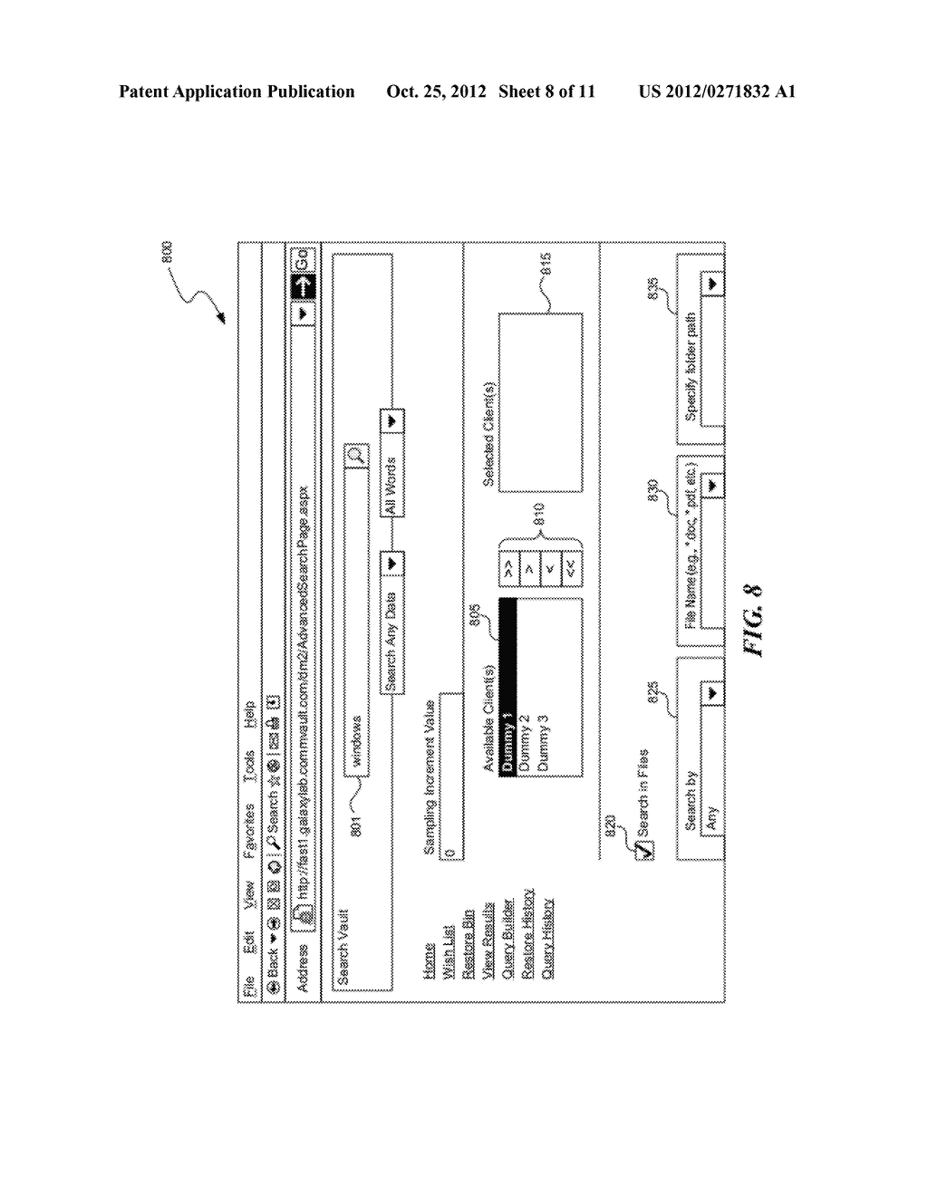 METHOD AND SYSTEM FOR SEARCHING STORED DATA - diagram, schematic, and image 09