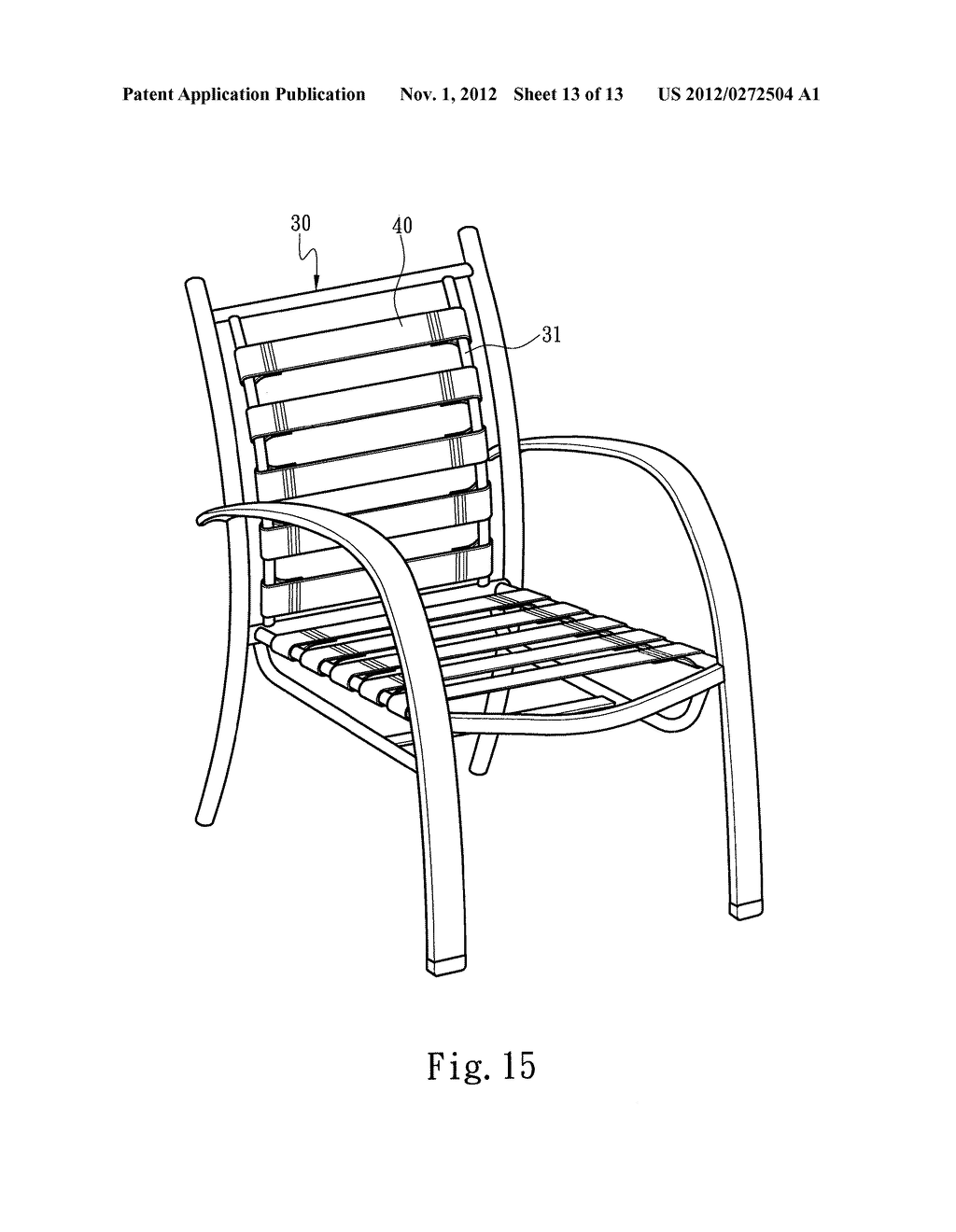 METHOD FOR FASTENING STRIPS TO LEISURE CHAIRS - diagram, schematic, and image 14