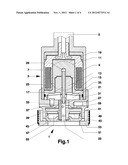ADJUSTABLE DAMPING VALVE DEVICE FOR A VIBRATION DAMPER diagram and image
