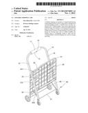 Foldable shopping cart diagram and image