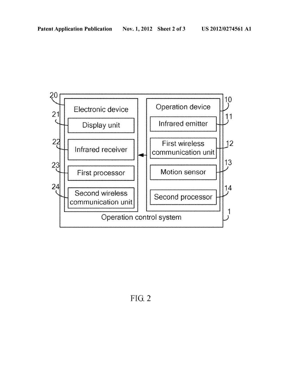 OPERATION CONTROL SYSTEM USING INFRARED RAYS AND METHOD THEREOF - diagram, schematic, and image 03