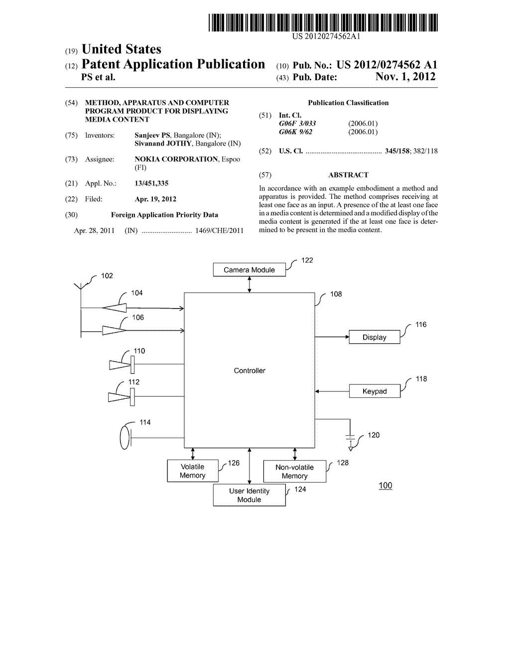 Method, Apparatus and Computer Program Product for Displaying Media     Content - diagram, schematic, and image 01