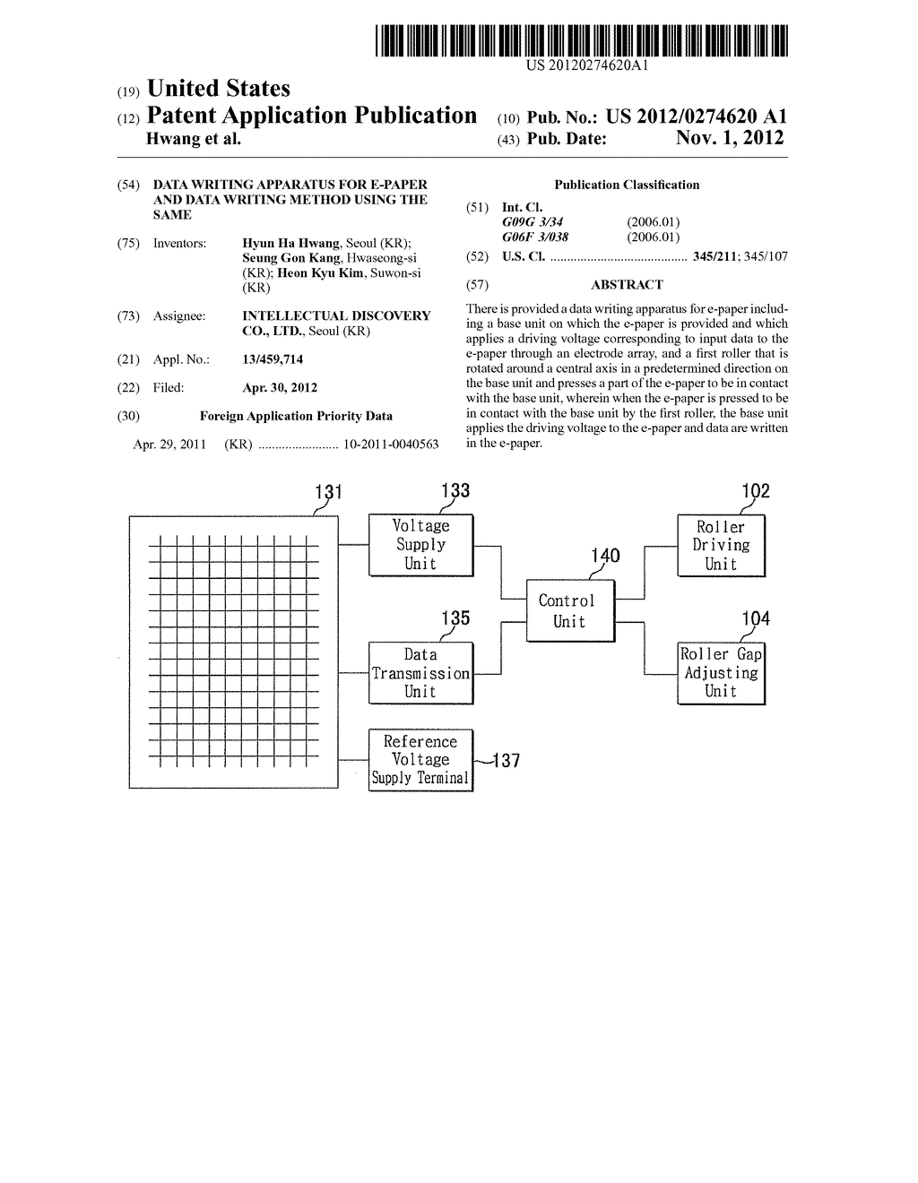 DATA WRITING APPARATUS FOR E-PAPER AND DATA WRITING METHOD USING THE SAME - diagram, schematic, and image 01