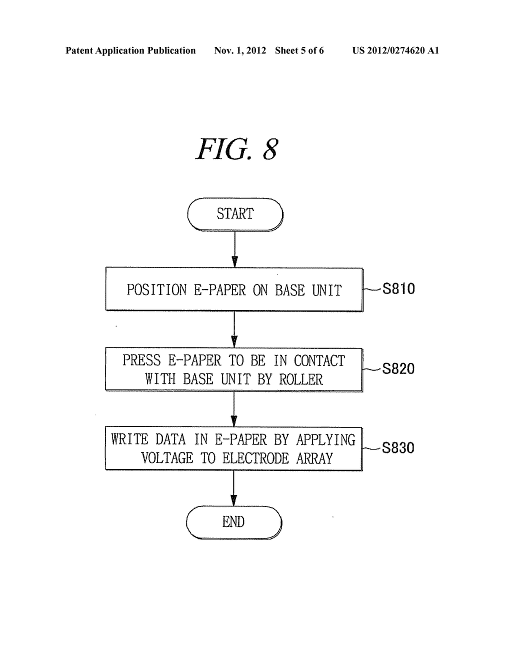 DATA WRITING APPARATUS FOR E-PAPER AND DATA WRITING METHOD USING THE SAME - diagram, schematic, and image 06
