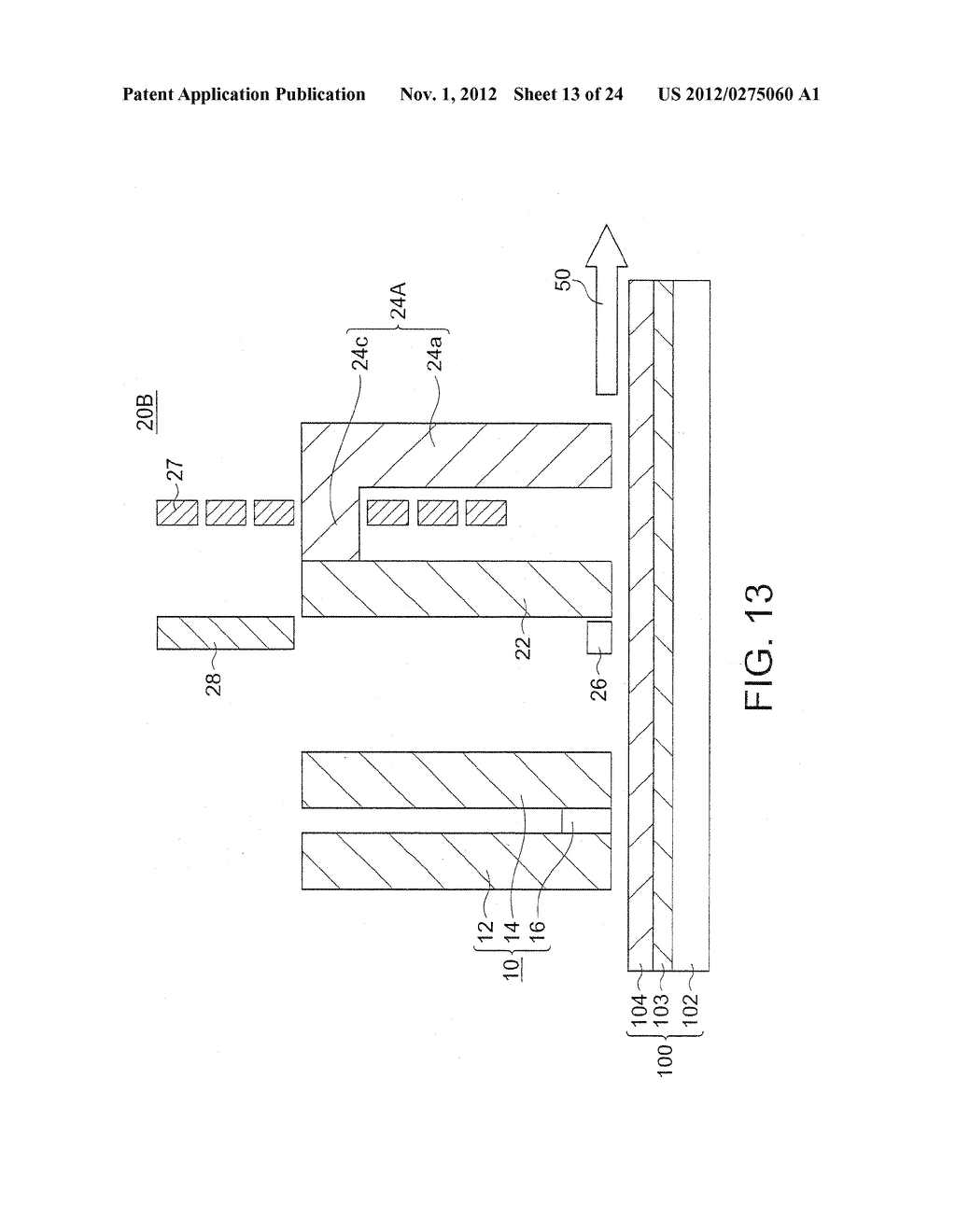 MAGNETIC HEAD WITH SPIN TORQUE OSCILLATOR AND MAGNETIC RECORDING HEAD - diagram, schematic, and image 14