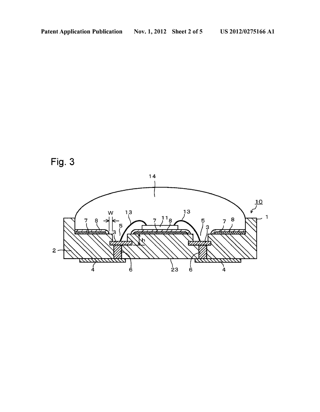 SUBSTRATE FOR MOUNTING LIGHT-EMITTING ELEMENT, ITS PRODUCTION PROCESS AND     LIGHT-EMITTING DEVICE - diagram, schematic, and image 03