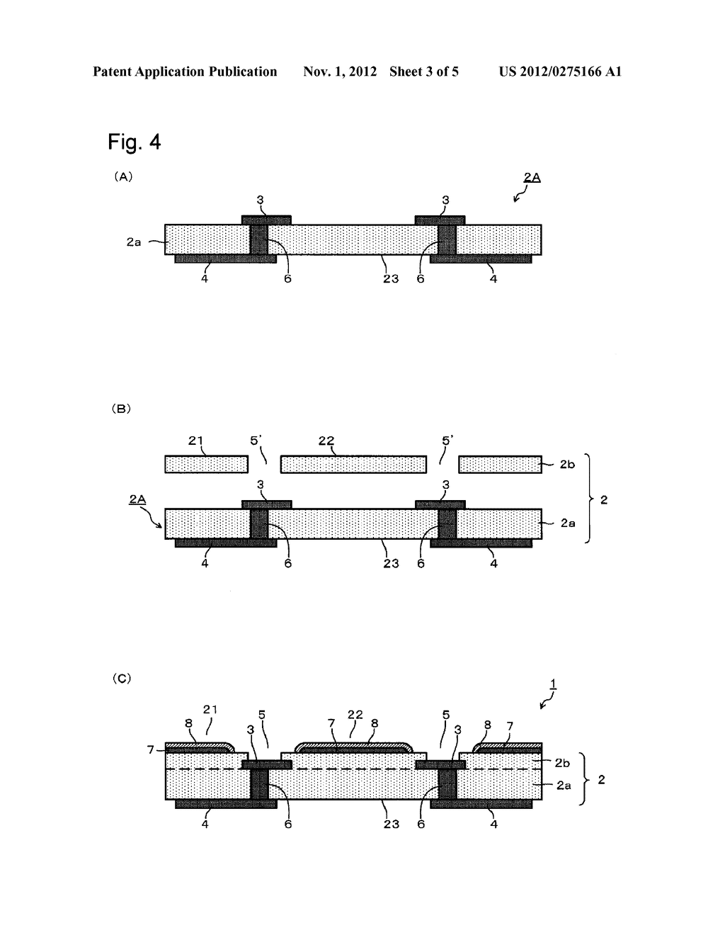 SUBSTRATE FOR MOUNTING LIGHT-EMITTING ELEMENT, ITS PRODUCTION PROCESS AND     LIGHT-EMITTING DEVICE - diagram, schematic, and image 04