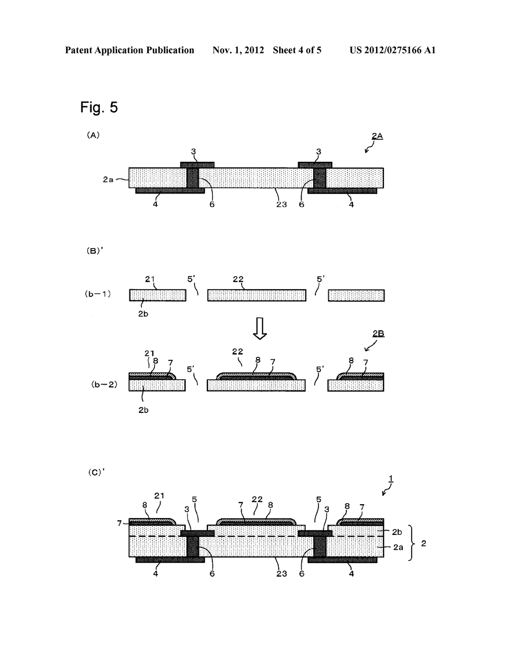 SUBSTRATE FOR MOUNTING LIGHT-EMITTING ELEMENT, ITS PRODUCTION PROCESS AND     LIGHT-EMITTING DEVICE - diagram, schematic, and image 05