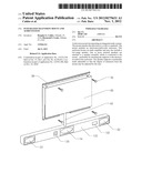 Integrated Television Mount and Audio System diagram and image