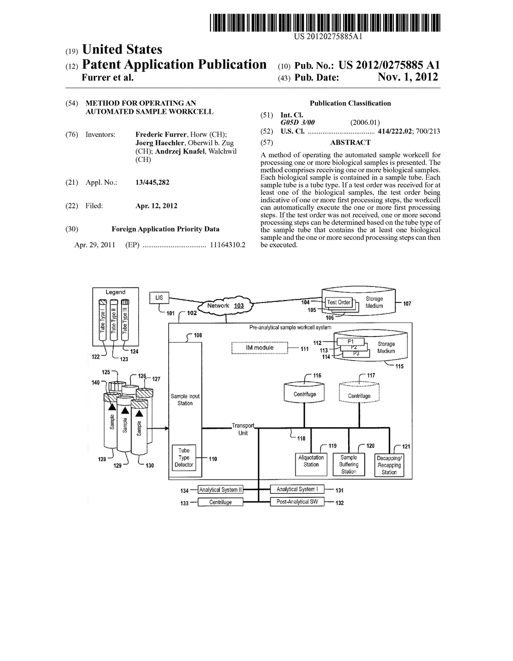 METHOD FOR OPERATING AN AUTOMATED SAMPLE WORKCELL - diagram, schematic, and image 01